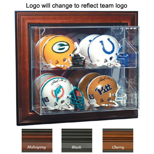 """Denver Broncos Nfl Case-Up"""" 4 Mini Helmet Display Case (Horizontal) (Black)"""""""