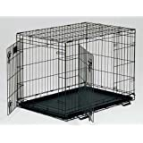 """Midwest Life Stages Double Door Dog Crate 36"""" x 24"""" x 27"""" (Set of 3)"""