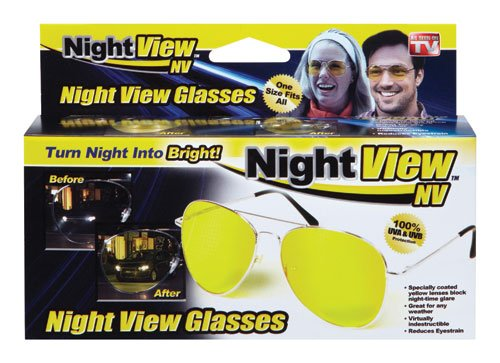 NPI NV-1000 Yellow Polycarbonate Night View Aviator