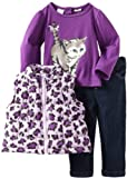 Baby Togs Baby-Girls Infant 3 Pack Vest Set, Purple, 24 Months