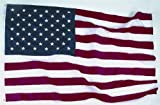 American Flag 3x5 ft. Nylon SolarGuard Flag by Annin Flagmakers, 100% Made in USA with Sewn Stripes, Embroidered Stars and Brass Grommets.  Premium 200 Denier fabric with Lockstitch seams for stripes and 4 rows of stitching on the Fly Hem. Model 2460