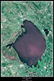 """Lake Okeechobee, Florida satellite map poster print phto: 24""""x36"""" glossy"""