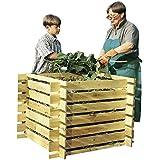 Komposter aus Holz mit Stecksystem, imprägniert