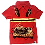 Mini Shatsu Spin Doctor Short Sleeve Polo Tee-2T-Red
