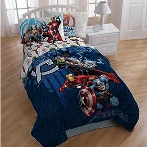 Marvel THE AVENGERS Twin Size 3 Pcs Sheet Set Hulk, Thor, Captain America & Iron Man