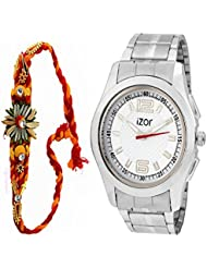 Best Gift For Brother, Men, Boys , White Dial Analogue Casual Wear Watch With Free Rakhi (Rakhi Designs May Vary... - B01K7N85QA
