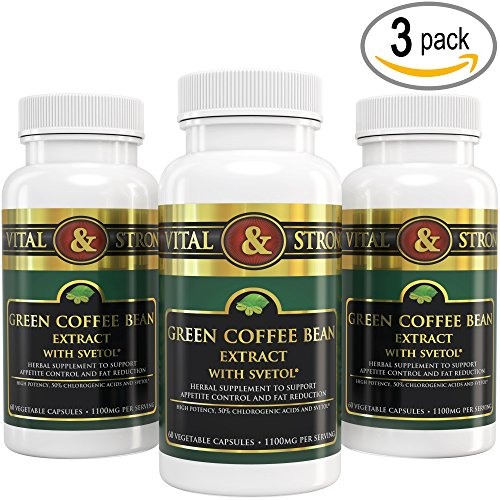 Vital & Strong Green Coffee Bean Extract with Svetol 180 Count (Leptin Green Coffee 800 compare prices)