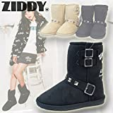 Ziddy(ジディー) スタッズ付きムートンブーツ (20-24cm/Black04) 1240-76011 (24cm)
