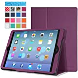 MoKo Apple iPad Air Case - Slim Folding Case for Apple iPad 5 Air (5th Gen) Tablet, PURPLE (With Smart Cover Auto Wake / Sleep)