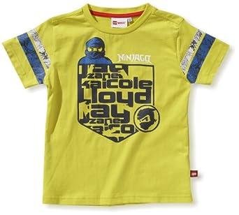 Lego Wear - T-Shirt - Garon - Jaune (220 Light Yellow) - FR : 4 ans (Taille fabricant : 104)