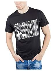 TOMO Men's Cotton Black Color Round Neck DEEP FOREST Printed T-shirt