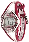 Timex Womens T5K510 Ironman Sleek 50-Lap Berry Resin Strap Watch