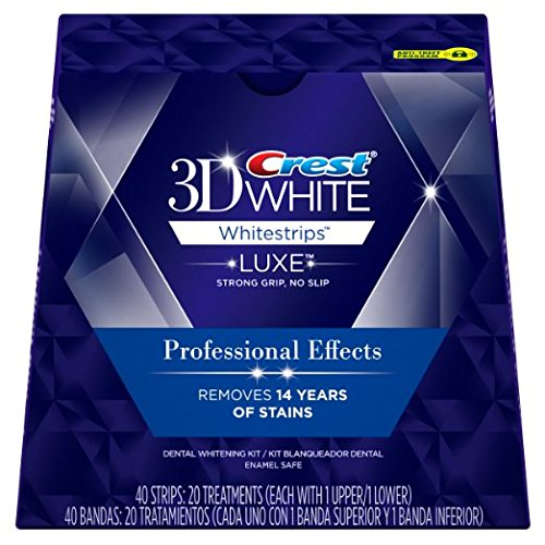 Crest 3D White Luxe Whitestrips Professional Effects, 2 Pack, 40 Treatments
