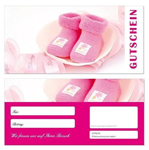 100-Stck-Geschenkgutscheine-Schuhe-706-Gutscheine-Gutscheinkarten-fr-Bereiche-wie-Einzelhandel-Mode-Klamotten-Shopping-rosa-Babysachen