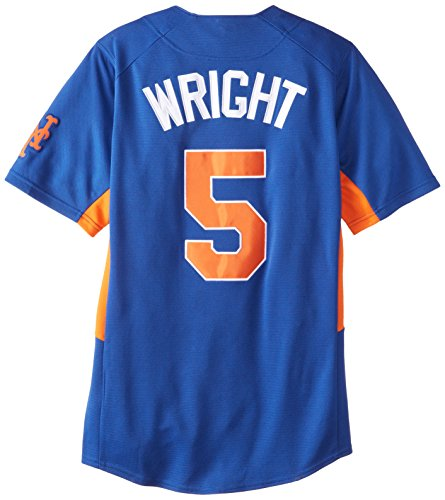 MLB New York Mets Men's Dorell Wright 5 Fever Player Jersey, Royal/Orange, Large (Mlb Men Jersey New York compare prices)