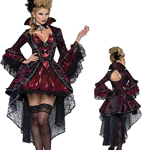 DoLoveY Women's Halloween Costumes Vampire Cosplay Party Fancy Dress