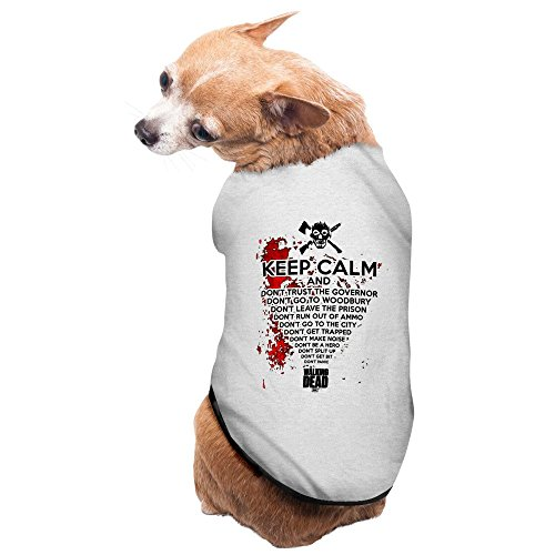 The Walking Dead Keep Calm And Zombie AMC Pet Supplies Dog Outfit Lovely Pet Supplies