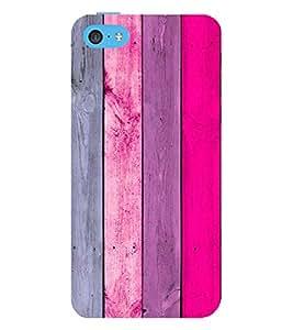 PrintVisa Pink Wood Pattern 3D Hard Polycarbonate Designer Back Case Cover for Apple iPhone 5C