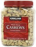 KIRKLAND カークランド カシューナッツ プレミアムクォリティー 1.13kg ボトル入り たっぷりおいしい