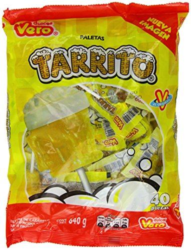 Vero Mexican Candy Tarrito Fruit Flavored Lollipops - 40 Pieces (Beer Lollipops compare prices)