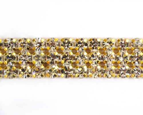 Gold Rhinestone Banding (3 Line) By Shine Trim