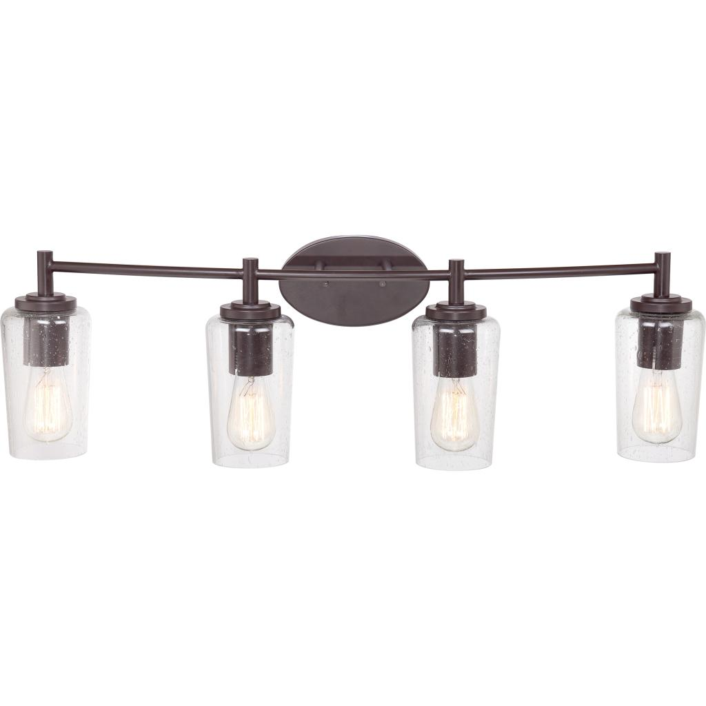 Quoizel eds8604wt edison with western bronze finish bath for Bathroom 5 light fixtures