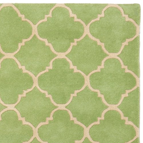 Safavieh Chatham Collection CHT935B Handmade Green Wool Area Rug, 8 feet by 10 feet (8' x 10')