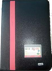 Black Designer Portfolio or Certificate Storage File With Zipper (20 Leaf Sleeves) 37x25cms File Size and 33x22cms Pocket size