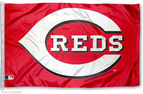 MLB Cincinnati Reds Large Outdoor Banner Custom Flag Baseball Team Logo 3'x5' Ft Indoor/Outdoor