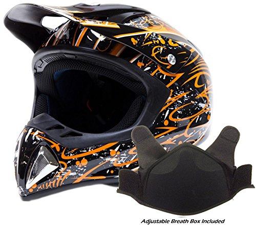 Adult Snocross Snowmobile Helmet - Orange ( XXL ) (Snow Machine Helmet compare prices)