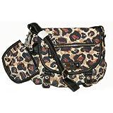 Franco Sarto Leopard Cheetah Cross Body Bag