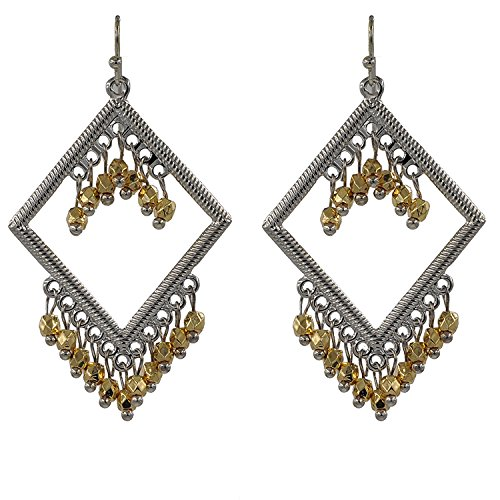 November's Chopin Charm Europe Style Rhombus Beads Pendant Fashion Princess Dangle Earrings