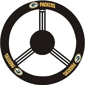 Fremont Die Green Bay Packers Steering Wheel Cover by Fremont Die