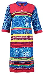 Fashion Web Women's Cotton Regular Fit Kurta (Multicolor, X-Large)