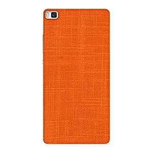 Stylish Orange Texture Squary Back Case Cover for Huawei P8