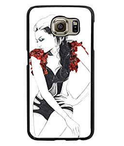 Fuson Style Girl Back Case Cover for SAMSUNG GALAXY S6 - D3714