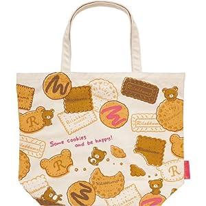 Rilakkuma Tote Bag White biscuits CS98401 (japan import)