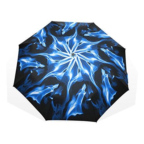blue-flame-folding-umbrella-nano-umbrella-cloth-anti-winds