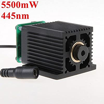 OAGTECH 445nm 5.5W 5500mW Blue Laser Module With Heatsink For DIY Laser Cutter Engraver