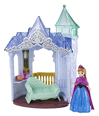 Disney Frozen MagiClip Flip 'N Switch Castle and Anna Doll from Mattel