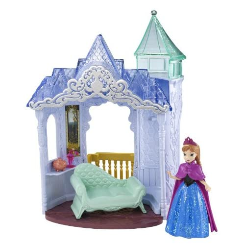 Disney Frozen MagiClip Flip N Switch Castle and Anna Doll