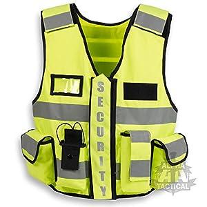 Hi-Viz yellow tactical security vest from Alpha Tactical