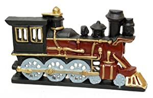 Best Quality- Cast Iron Painted Train Engine Doorstop