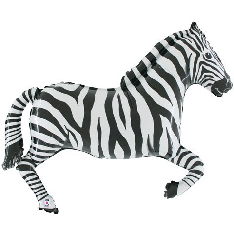 Zebra Shaped Foil Balloon - 1