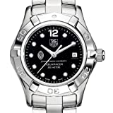 TAG HEUER watch:Johns Hopkins University TAG Heuer Watch - Women's Steel Aquaracer with Black Diamond Dial at M.LaHart