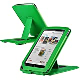 eForCity Flip Back Folio Leather Case Cover Pouch with Adjustable kickstand Compatible with Barnes & Noble Nook Color, Green