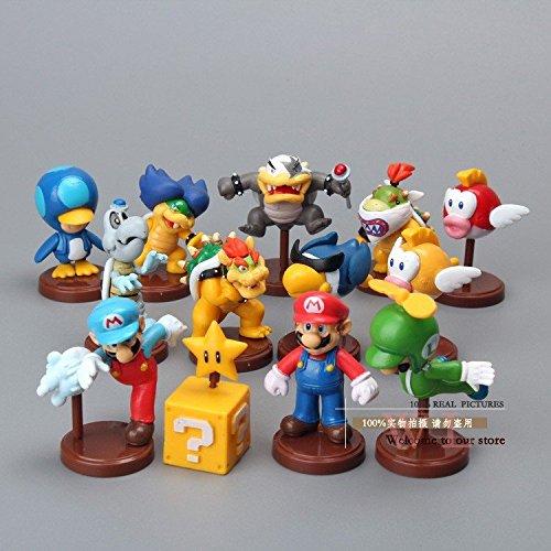 Super Mario Bros (3-5cm 13pcs/set) Koopalings Bowser Blurp PVC Action Figure Toys