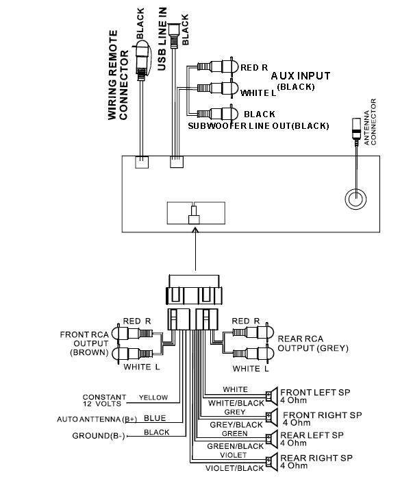 boss audio systems wiring diagram boss audio bv9759bd wiring harness