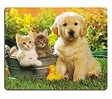 wioucou可愛い猫と犬 マウスパッド 光学式対応 モダン おしゃれ 薄い
