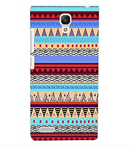 ColourCraft Tribal pattern Design Back Case Cover for XIAOMI REDMI NOTE 4G